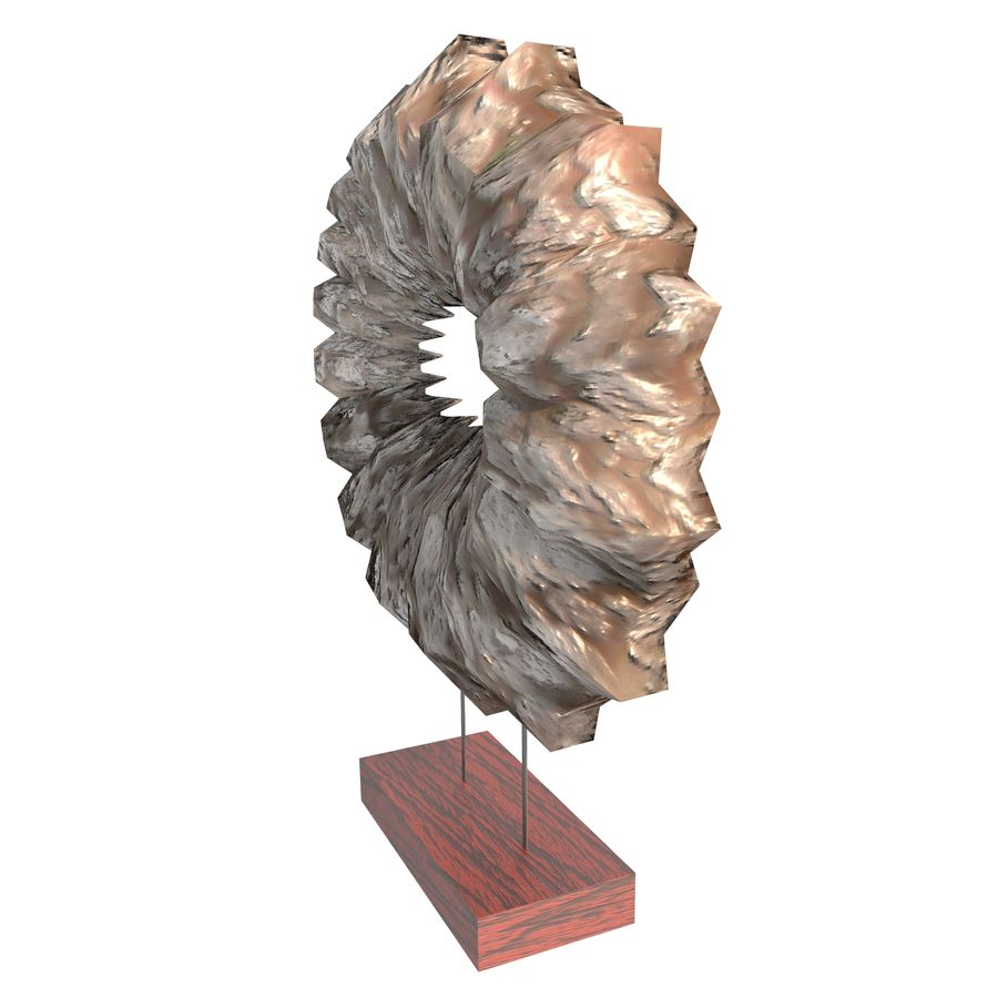 Ahşap stand dekoratif deniz hayvanı kabuğu royalty-free 3d model - Preview no. 6