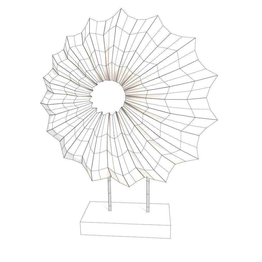Ahşap stand dekoratif deniz hayvanı kabuğu royalty-free 3d model - Preview no. 9