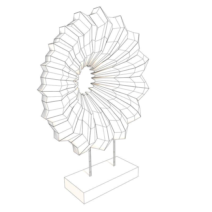 Ahşap stand dekoratif deniz hayvanı kabuğu royalty-free 3d model - Preview no. 10