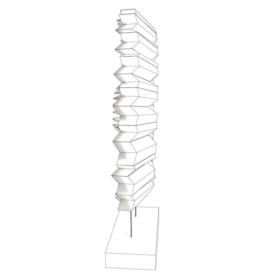 Ahşap stand dekoratif deniz hayvanı kabuğu royalty-free 3d model - Preview no. 11