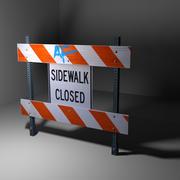 Sidewalk Closed 3d model
