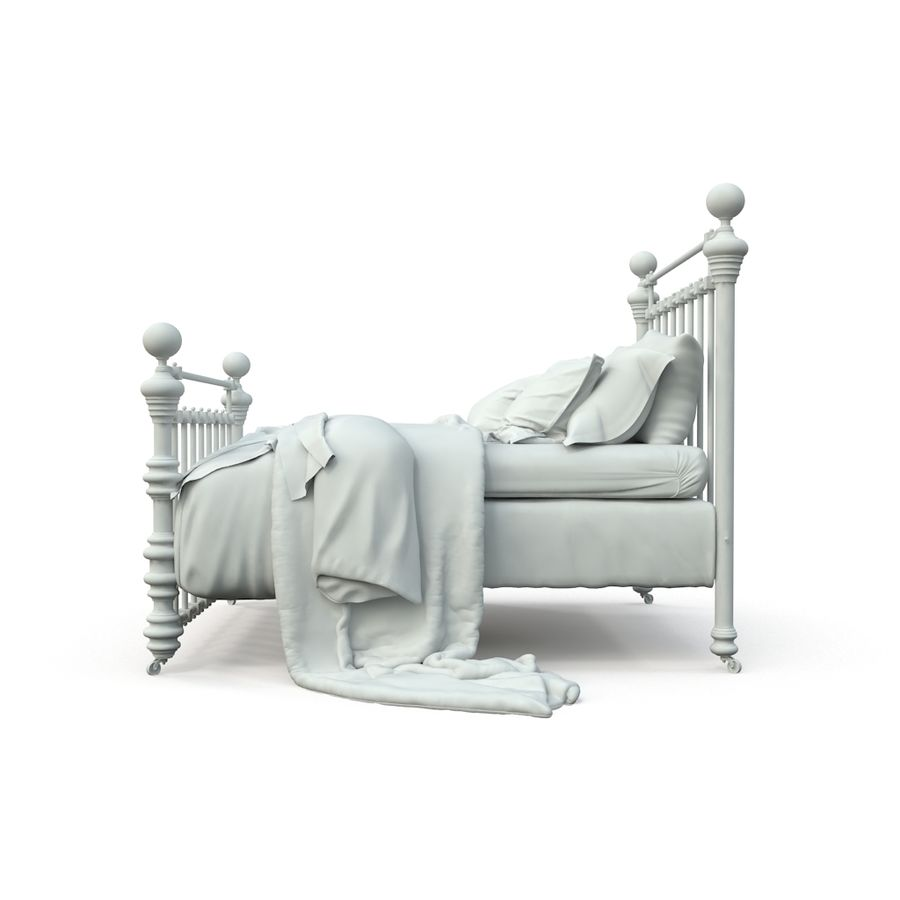 E così a letto, Dickens Bed royalty-free 3d model - Preview no. 8