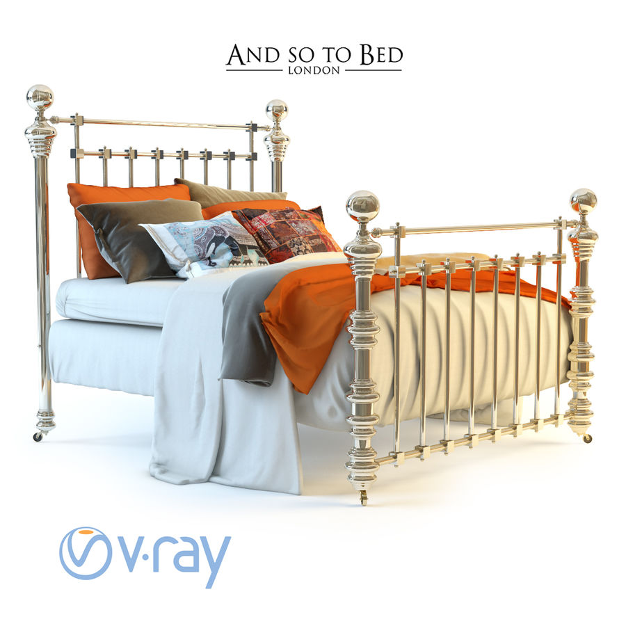 E così a letto, Dickens Bed royalty-free 3d model - Preview no. 3