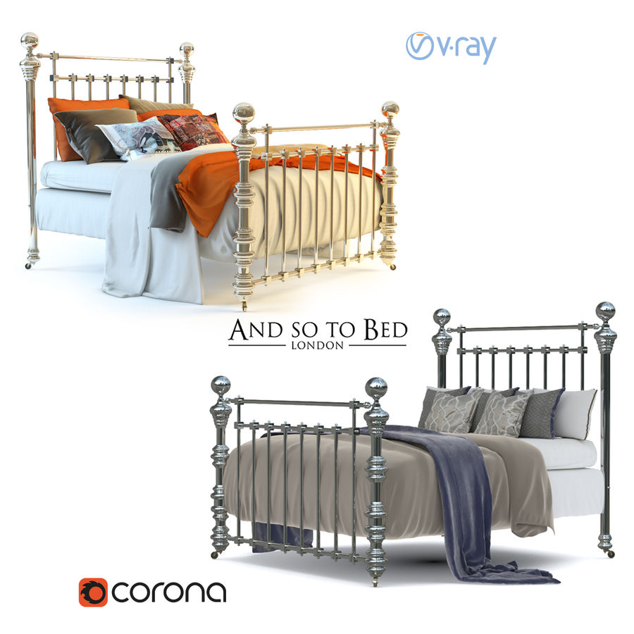 E così a letto, Dickens Bed royalty-free 3d model - Preview no. 1