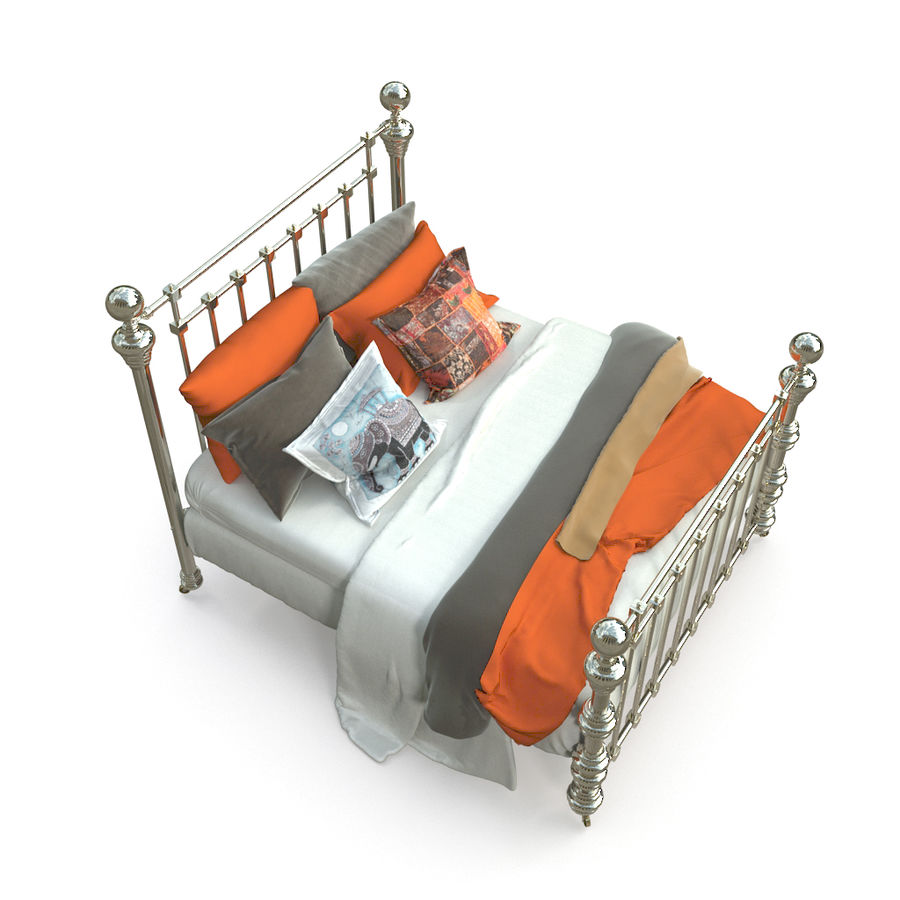 E così a letto, Dickens Bed royalty-free 3d model - Preview no. 5