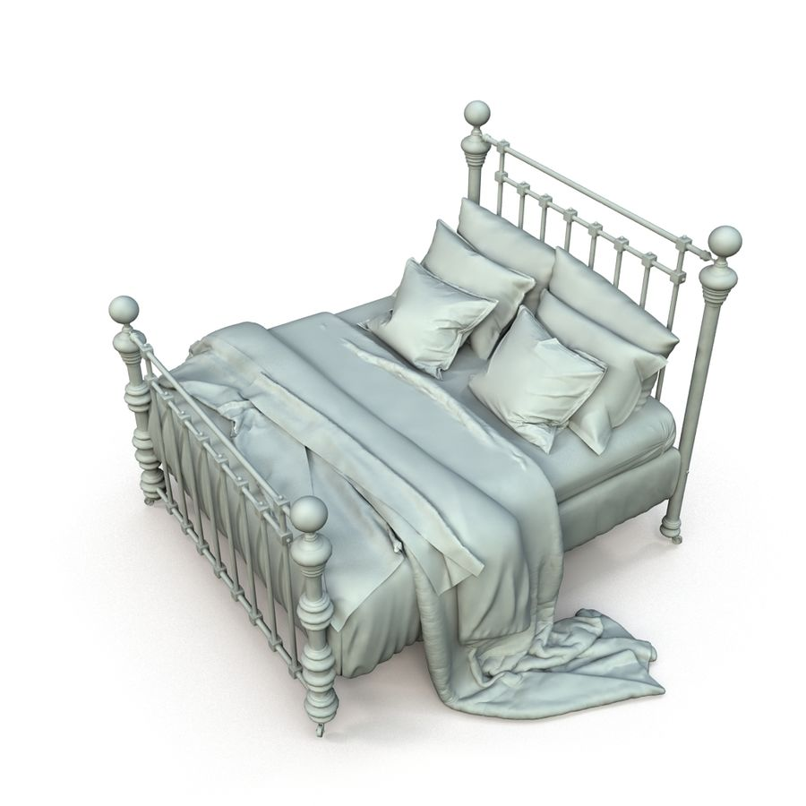 E così a letto, Dickens Bed royalty-free 3d model - Preview no. 6