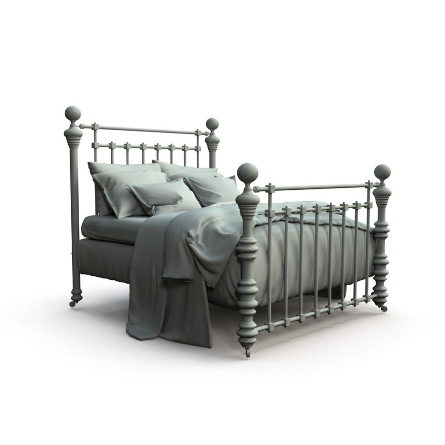 E così a letto, Dickens Bed royalty-free 3d model - Preview no. 7