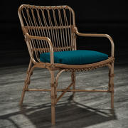 Palecek - Retro Rattan Dining Armchair 3d model