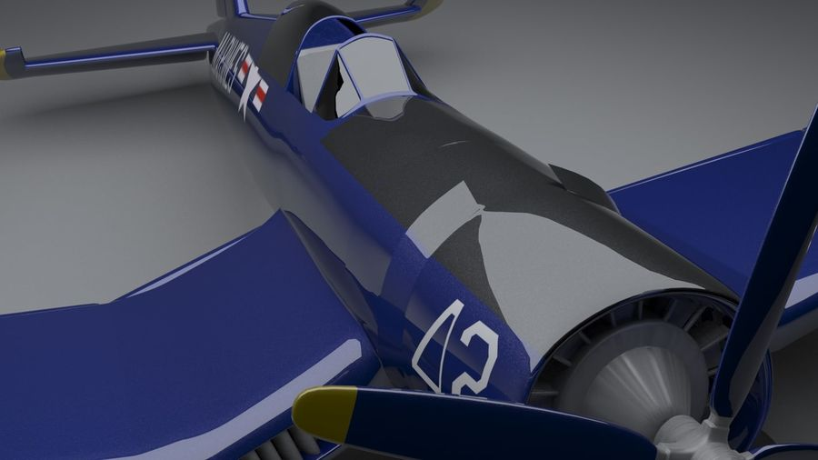 Corsair vought f4u royalty-free 3d model - Preview no. 5