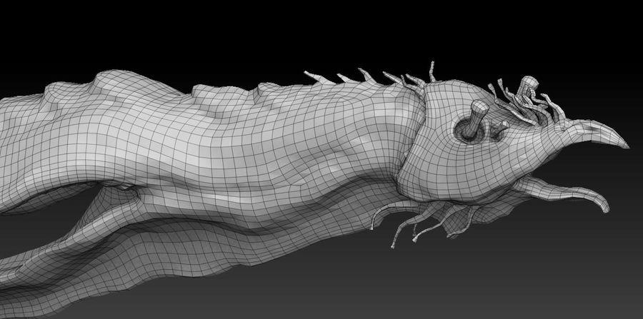 Aquatic Alien royalty-free 3d model - Preview no. 3