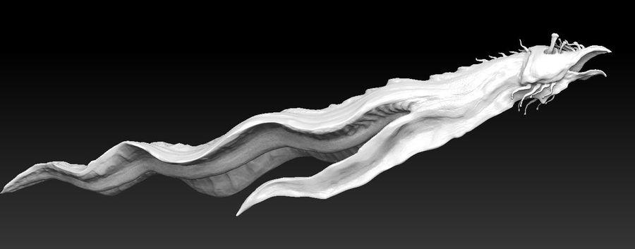 Aquatic Alien royalty-free 3d model - Preview no. 5