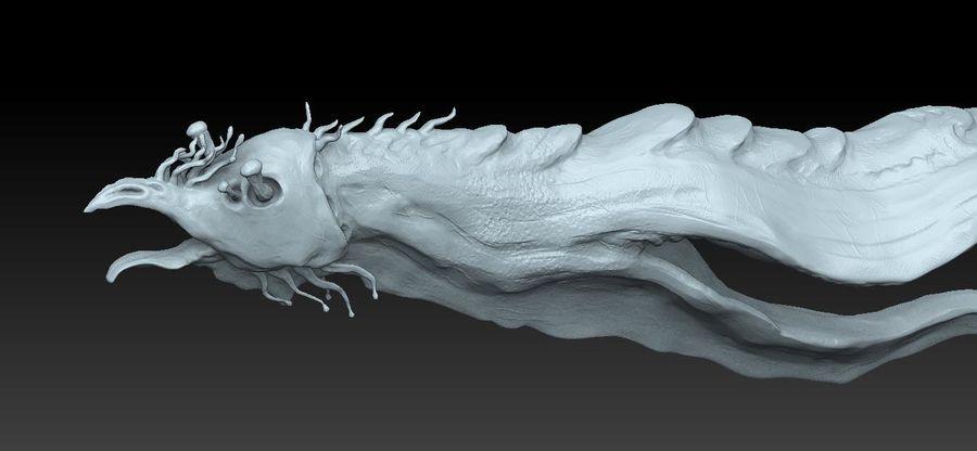Aquatic Alien royalty-free 3d model - Preview no. 4
