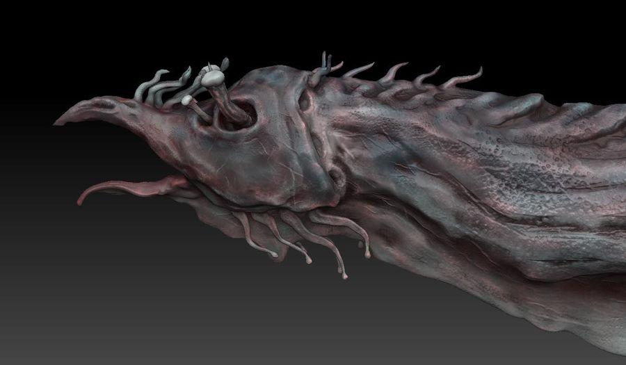 Aquatic Alien royalty-free 3d model - Preview no. 1