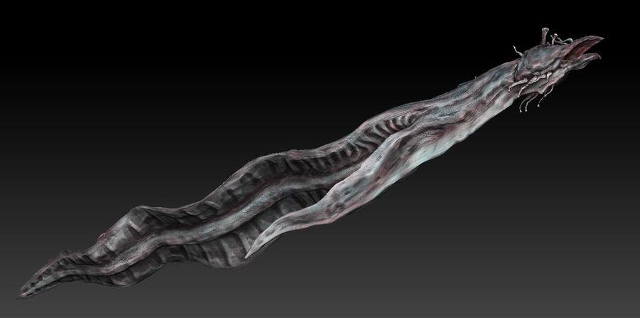 Aquatic Alien royalty-free 3d model - Preview no. 6
