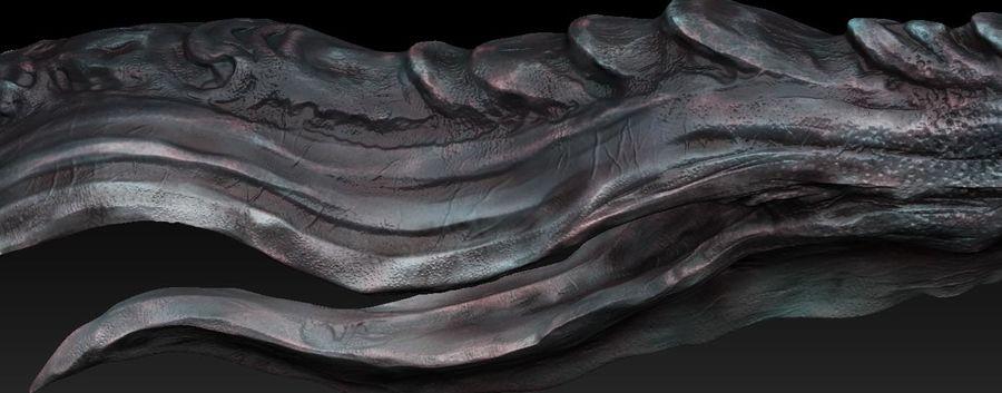 Aquatic Alien royalty-free 3d model - Preview no. 2