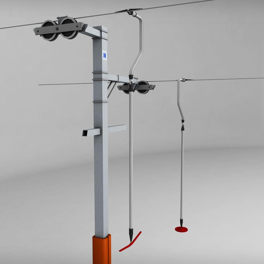 Ski lift pole rod royalty-free 3d model - Preview no. 4