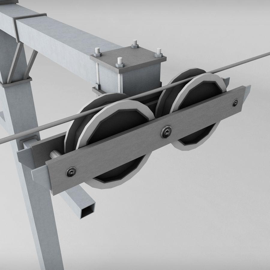 Ski lift pole rod royalty-free 3d model - Preview no. 3