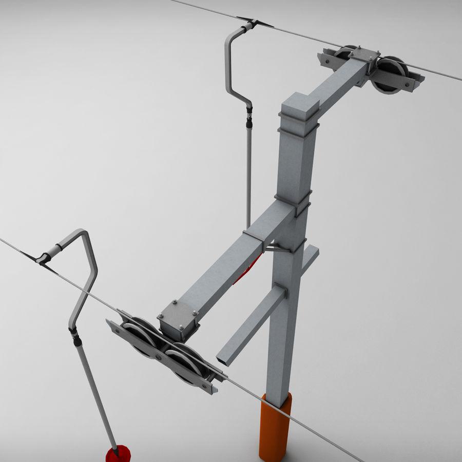 Ski lift pole rod royalty-free 3d model - Preview no. 7