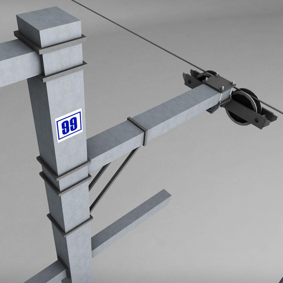 Ski lift pole rod royalty-free 3d model - Preview no. 5