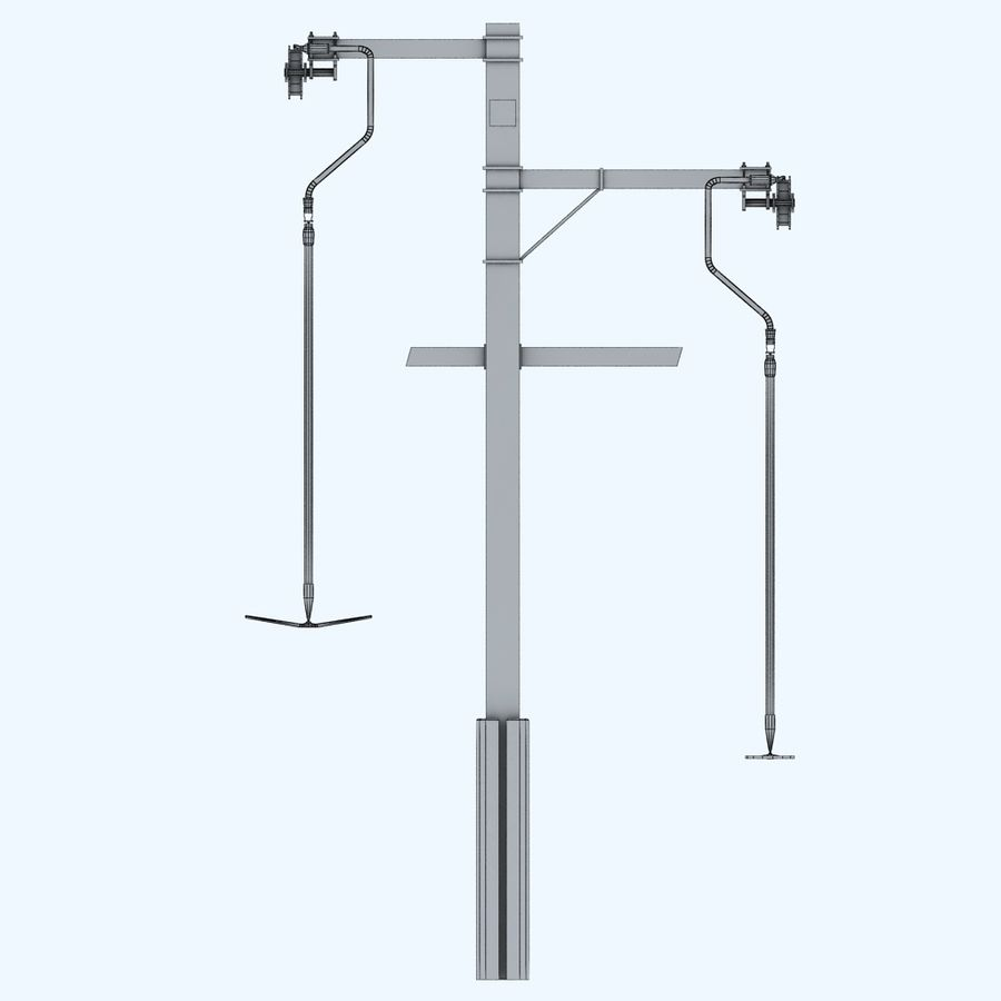 Ski lift pole rod royalty-free 3d model - Preview no. 8
