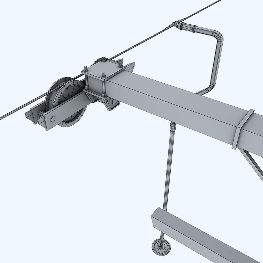 Ski lift pole rod royalty-free 3d model - Preview no. 10