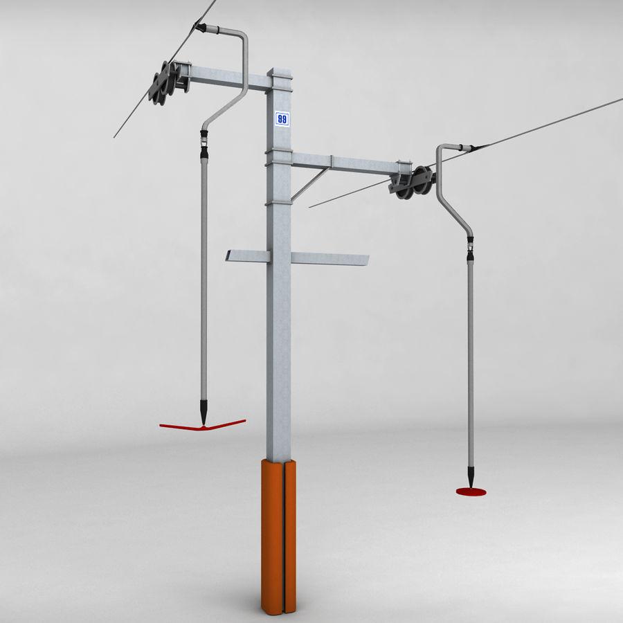 Ski lift pole rod royalty-free 3d model - Preview no. 1