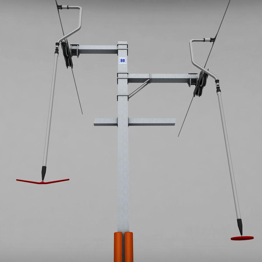 Ski lift pole rod royalty-free 3d model - Preview no. 6