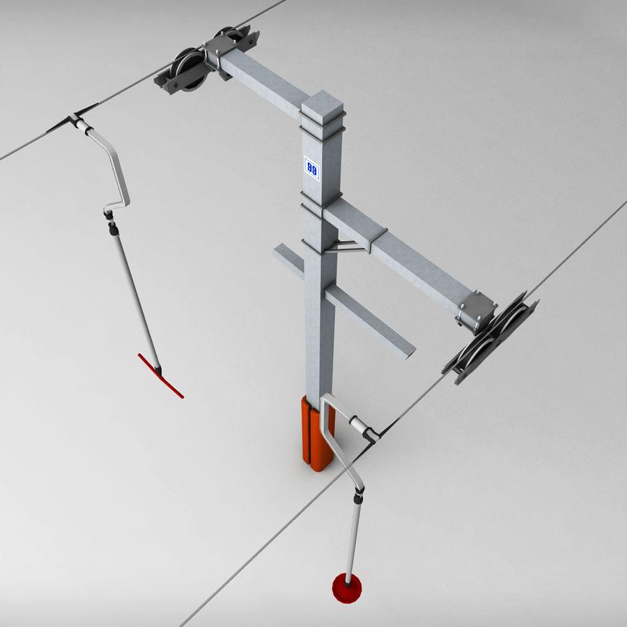 Ski lift pole rod royalty-free 3d model - Preview no. 2