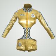 Golden Racing Outfit 3d model