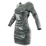Siyah Parlak Elbise 3d model