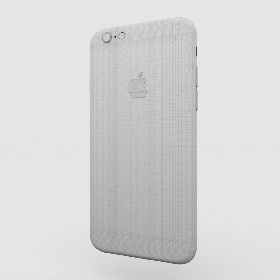 Iphone 6S Silver royalty-free 3d model - Preview no. 17