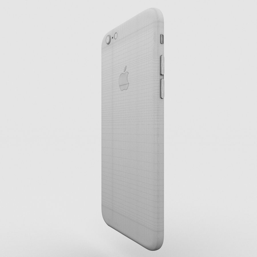 Iphone 6S Silver royalty-free 3d model - Preview no. 18