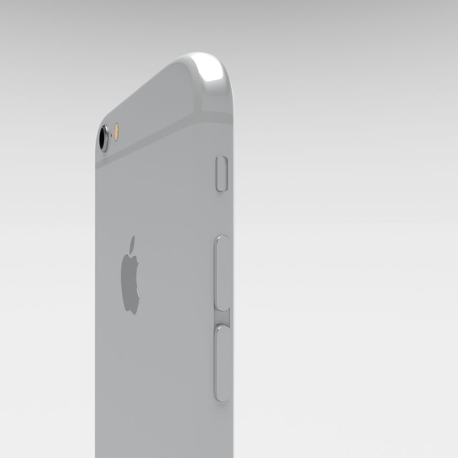 Iphone 6S Silver royalty-free 3d model - Preview no. 8