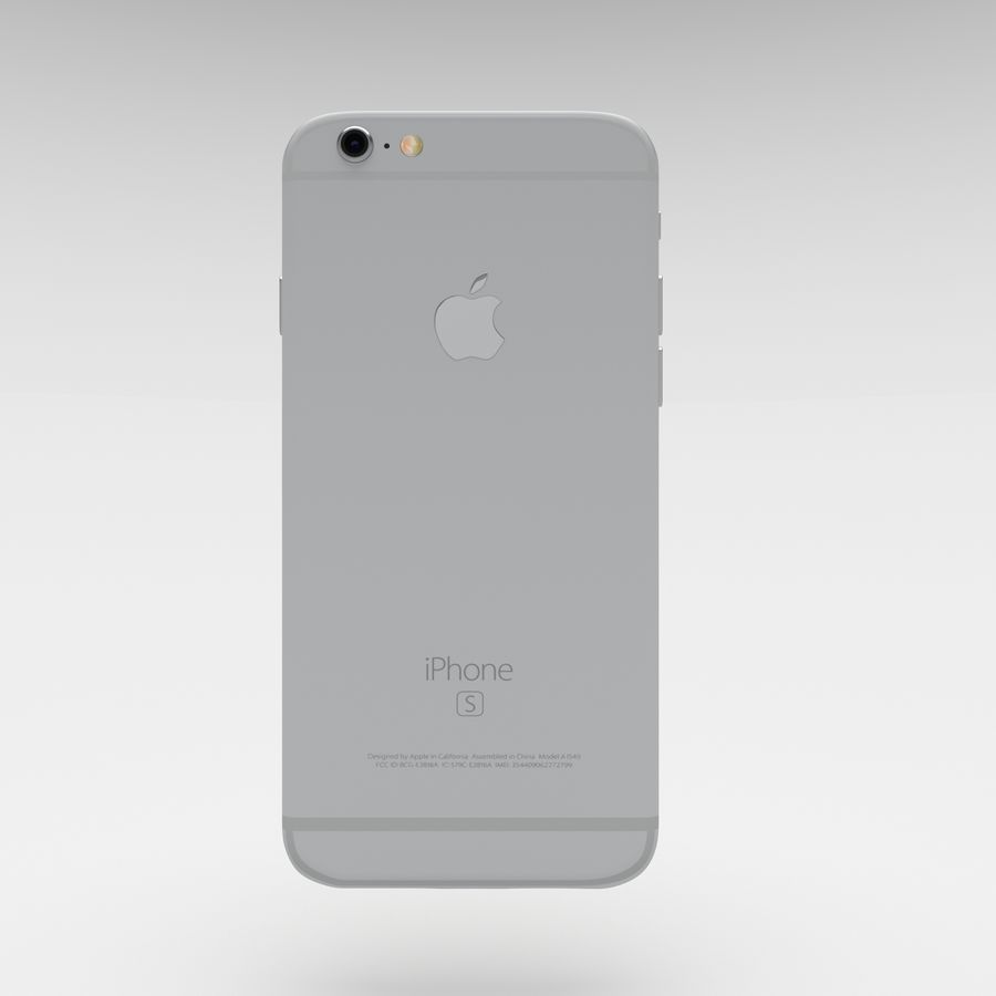 Iphone 6S Silver royalty-free 3d model - Preview no. 2