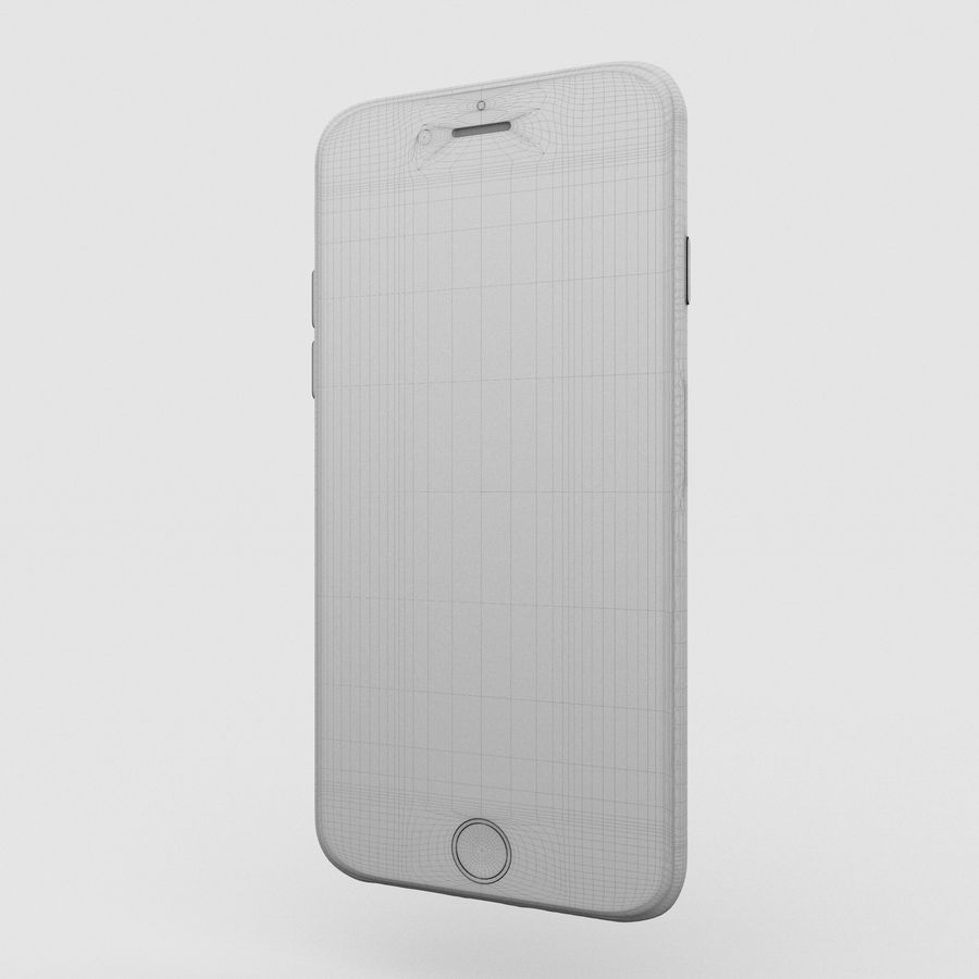 Iphone 6S Silver royalty-free 3d model - Preview no. 14