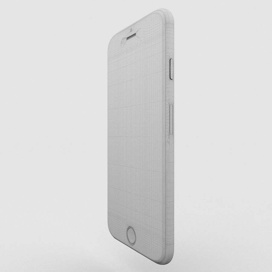 Iphone 6S Silver royalty-free 3d model - Preview no. 15