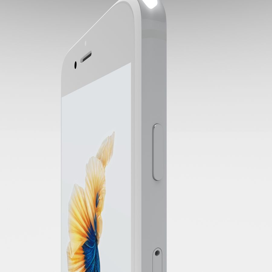 Iphone 6S Silver royalty-free 3d model - Preview no. 10