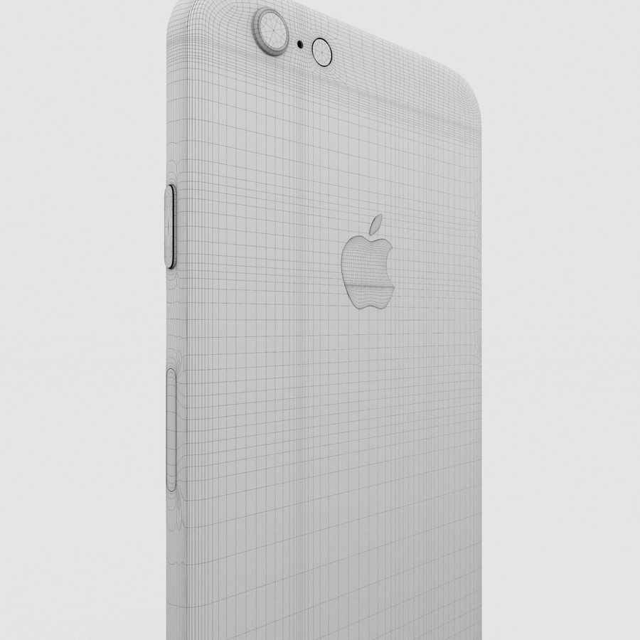 Iphone 6S Silver royalty-free 3d model - Preview no. 22