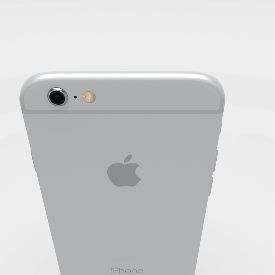 Iphone 6S Silver royalty-free 3d model - Preview no. 9