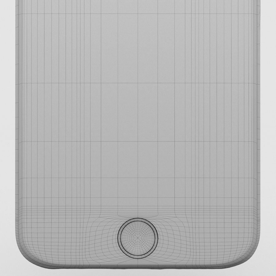 Iphone 6S Silver royalty-free 3d model - Preview no. 19