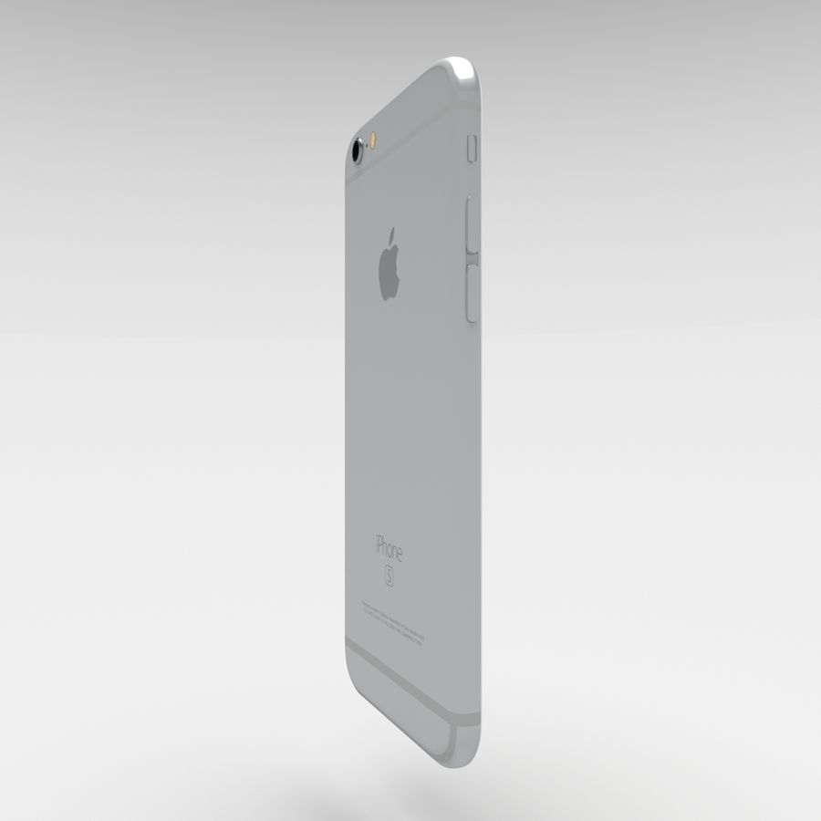 Iphone 6S Silver royalty-free 3d model - Preview no. 3