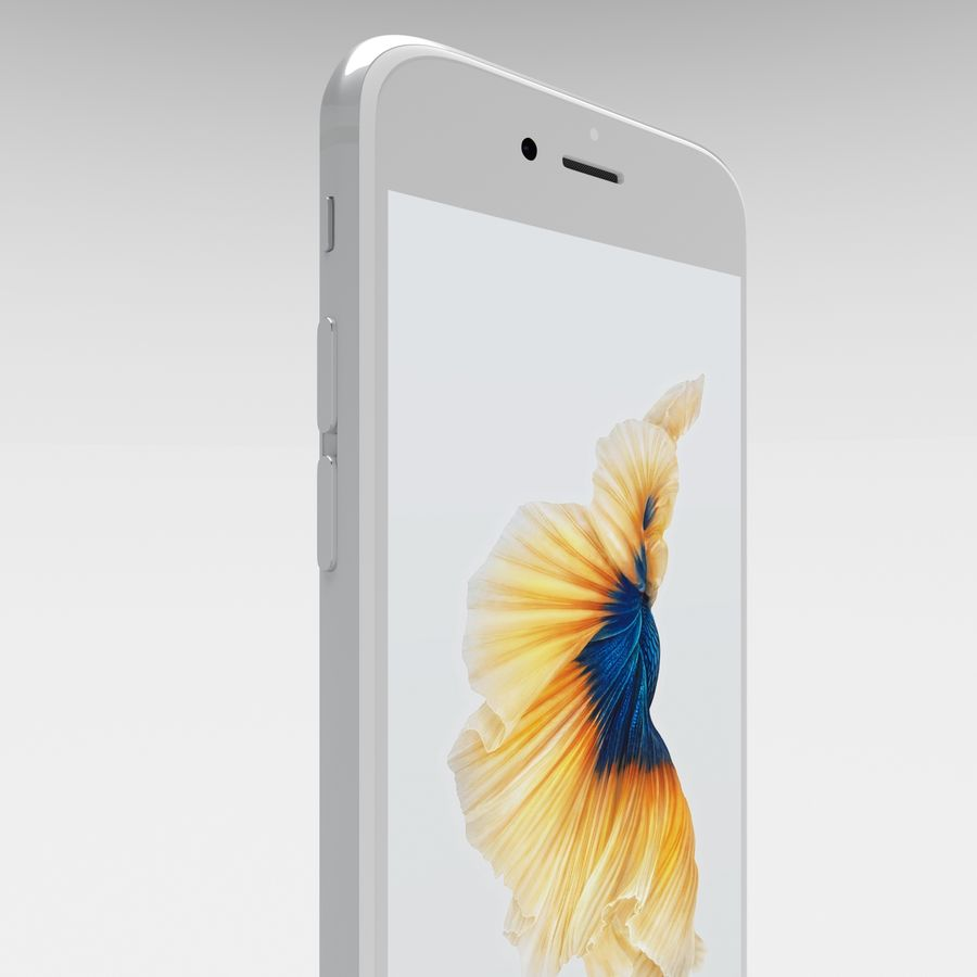 Iphone 6S Silver royalty-free 3d model - Preview no. 12