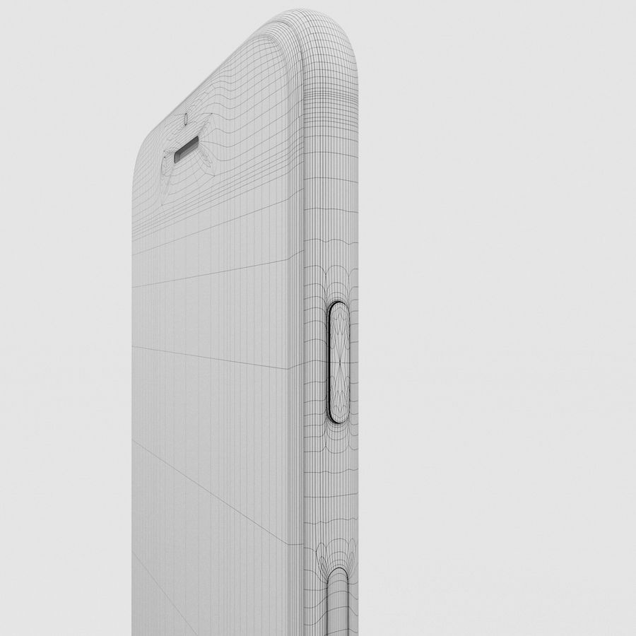 Iphone 6S Silver royalty-free 3d model - Preview no. 20