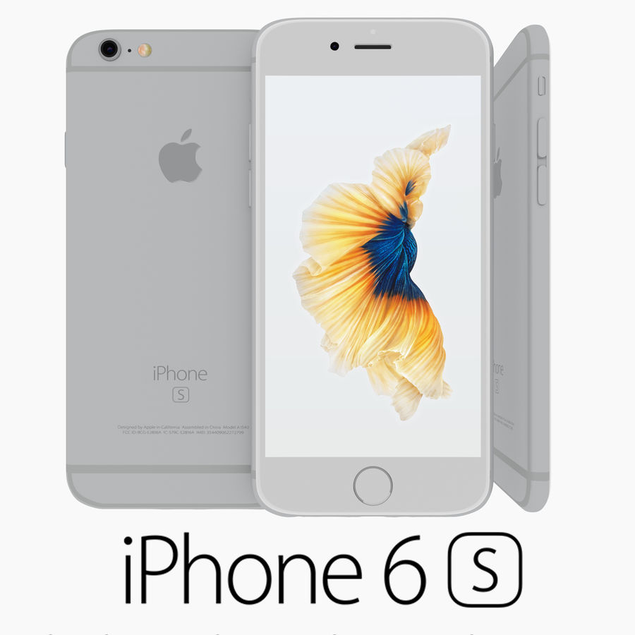 Iphone 6S Silver royalty-free 3d model - Preview no. 1
