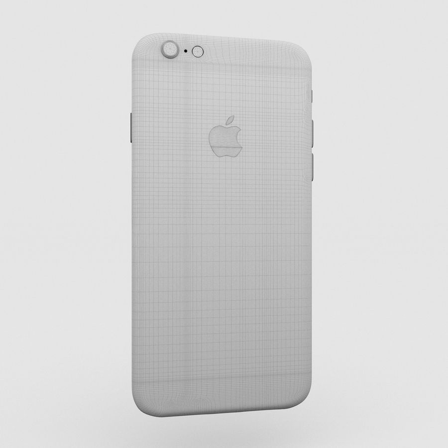 Iphone 6S Silver royalty-free 3d model - Preview no. 16