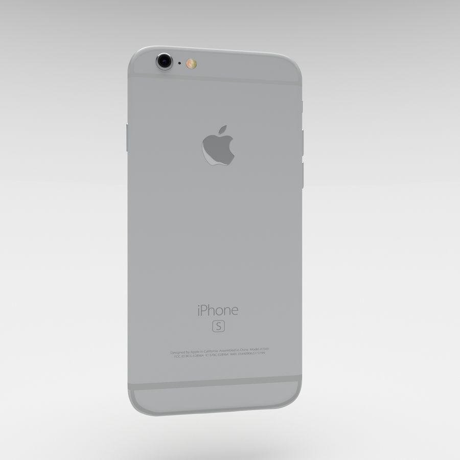 Iphone 6S Silver royalty-free 3d model - Preview no. 6