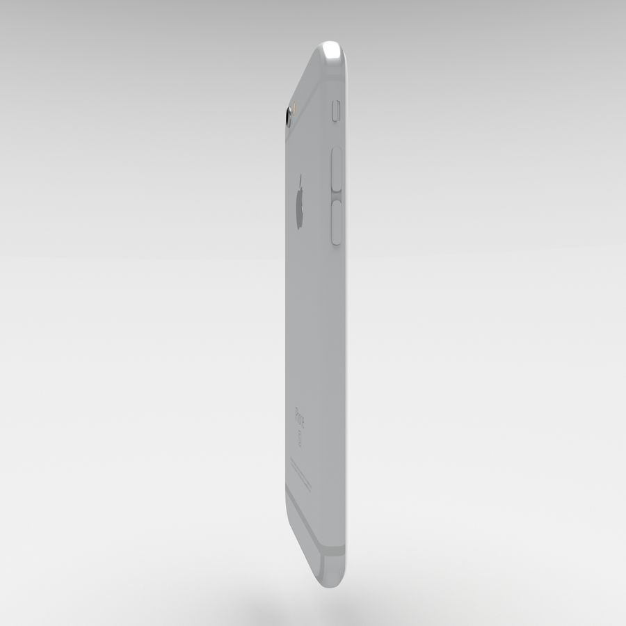 Iphone 6S Silver royalty-free 3d model - Preview no. 4