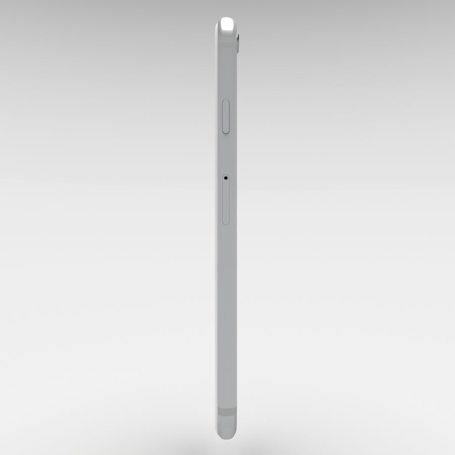 Iphone 6S Silver royalty-free 3d model - Preview no. 7