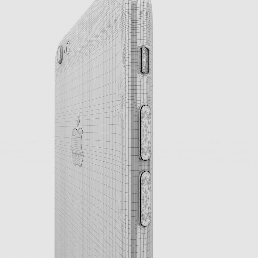 Iphone 6S Silver royalty-free 3d model - Preview no. 21