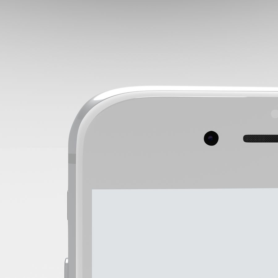 Iphone 6S Silver royalty-free 3d model - Preview no. 11